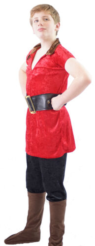 GASTON Child/'s Fancy Dress Costume All Ages World Book Day-Beauty and the Beast