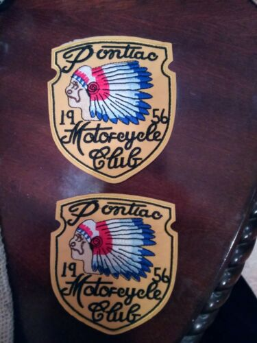 PONTIAC 1956 MOTORCYCLE CLUB Biker IRON ON PATCHES  Patch LOT INDIAN CHIEF 2