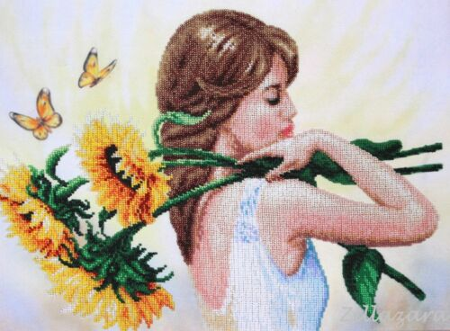 Sommer Laune Perlenstickbild Stickbild Stickpackung Perlen Preciosa 484