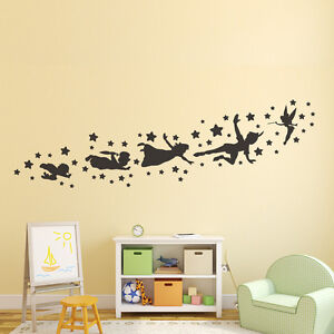 Image Is Loading Peter Pan Wall Decal Removable Vinyl Sticker Mural