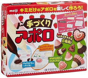 Details About New Meiji Diy Chocolate Making Kit Cookin Make Apollo Strawberry Chocolate Fs
