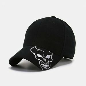 Details about Black Skull Skateboard Biker Skeleton Costume Ball Gothic  Goth Baseball Hat Cap 08b6b4ccb18