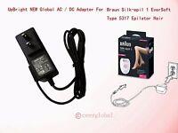 Ac Power Adapter Charger For Braun Silk-epil 1 Eversoft Type 5317 Epilator Hair