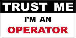 3 Operator Trust Me Tool Box Hard Hat Helmet Sticker