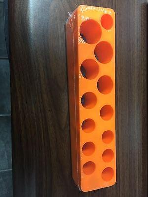 Colto Mechanics Time Saver 780 3/8 In. Drive Deep Solar Orange Socket Holder 5.5-22mm