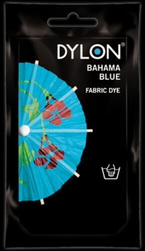 Dylon Fabric Dye Hand Use 50g Pack Clothes Bahama Blue ** CLEARANCE PRICE **