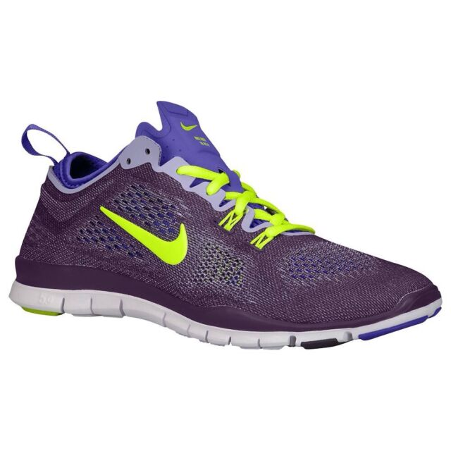 NIKE FREE 5.0 TR FIT WOMENS SHOES PURPLE/VOLT GREEN SIZE 7 629496 501
