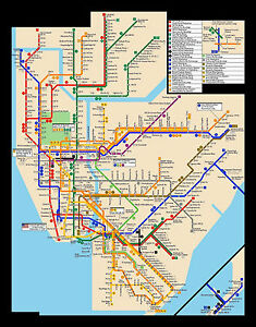Printed Nyc Subway Map.Details About Framed Print New York City Subway Map Picture Poster Modern Art Underground
