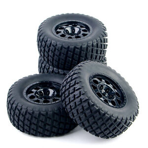 4pcs-1-10-Short-Course-Truck-Tyre-Tires-Wheel-12mm-Hex-For-TRAXXAS-HSP-RC-Car