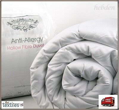Luxury 15 Tog Hollowfibre Bounce Back Duvet Thick Warm Quilt Hypoallergenic