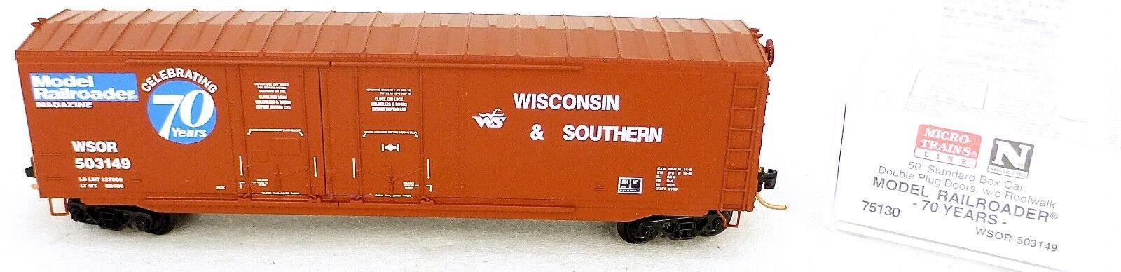 Micro Trains Line 75130 70 Anni Modello Railroader 50 ´ Box Car 1:160 Conf.