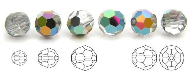 Preciosa Genuine Czech Round MC Faceted Crystals Outside Vitrail Medium Beads