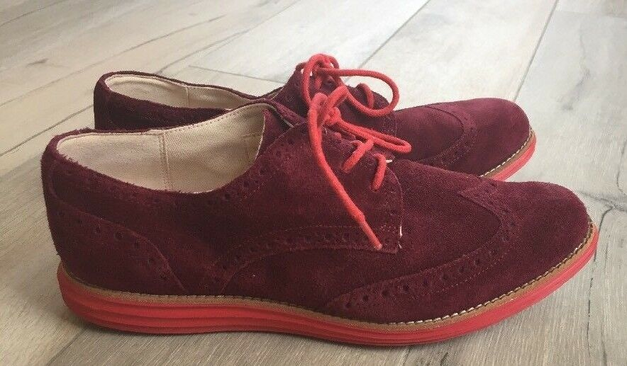 Cole Haan Lunargrand Wingtip shoes- Size 8B- Burgundy