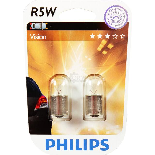 SET 2x Bombilla para coche Philips VISION 12821B2 R5W BA15s