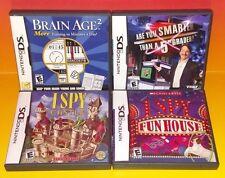 I Spy Castle, Fun House, Brain Age 2, Are u Smarter Nintendo DS Lite 3DS 4 Games