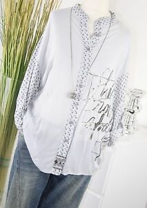 ITALY MODA Tunika PAISLEY Hemd ORNAMENT Schrift Bluse HELLGRAU Shirt M L 38 40 - Fuchsstadt, Deutschland - ITALY MODA Tunika PAISLEY Hemd ORNAMENT Schrift Bluse HELLGRAU Shirt M L 38 40 - Fuchsstadt, Deutschland