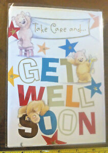 Take Care And Get Well Soon Card Envelope New Ebay