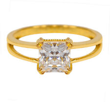 Excellent Princess Cut 1.50 Carat Solitaire Women/'s Ring In 14KT Yellow Gold