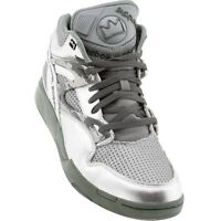 Reebok Mens Silver Grey Pump Omni Lite Affiliart Basquiat Shoes Sneakers J87626