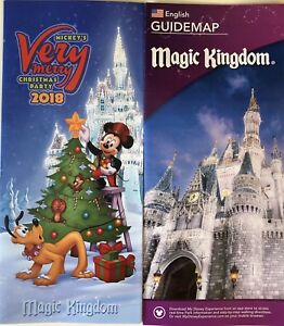 Mickeys Very Merry Christmas Party 2018 Map.Details About Mickey S Very Merry Christmas Party Mvmcp 2018 Park Map Bonus Map Wdw