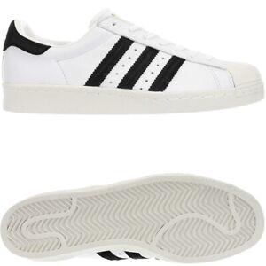 lower price with stable quality popular brand Details zu Adidas Superstar 80s weiß schwarz Herren low-top Kult Sneakers  Leder Fell NEU