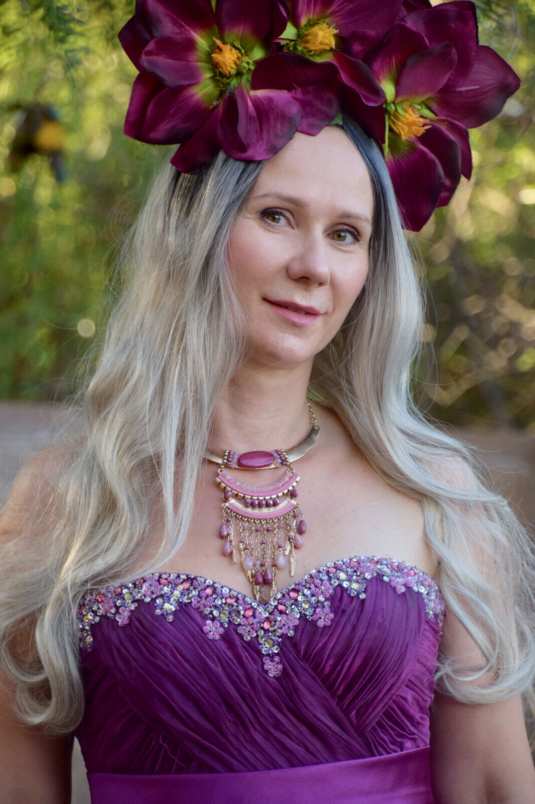 Goddess Faerie Princess Flower Floral Festival B… - image 2