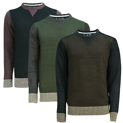 Hell Soulstar Mens Fernheath Knitted Jumper Long Sleeved Warm Adults Chunky Sweater