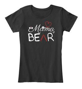 Mama-Bear-4-Women-039-s-Premium-Tee-T-Shirt