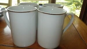 Mugs Cups Gold Band by GIBSON DESIGNS 4 flat bottom glasses