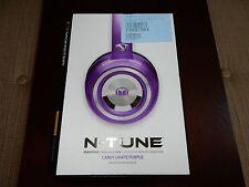 Monster N-Tune HD Colour it Loud On Ear Headphones - Purple (NEW, READ) #M198