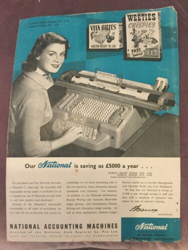 National Cash Register Co. Accounting Machines Advertisement Australia 1957