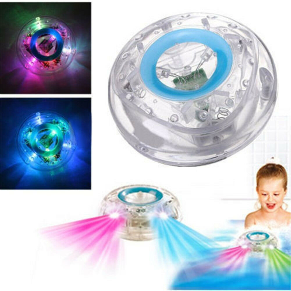 Baby Bath LED Water Floating Aqua Glow Lamp in Show Pond Hot Pool ...