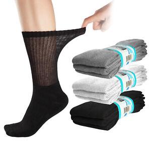 6-Pairs-Diabetic-Crew-Socks-Circulatory-Loose-Fit-Mens-or-Womens