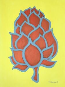 Simcoe-Original-Acrylic-Painting-hops-on-Canvas-Pop-Art-40-x36