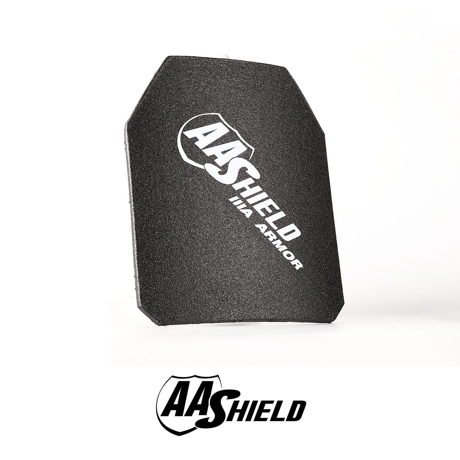 AA Shield Ballistic Light Weight Body Armor Hard Plate Lvl IIIA 3A 10x12 Cut