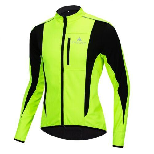 Miloto Winter Cycling Jacket Women/'s Men/'s Reflective Bike Cycle Jersey Top