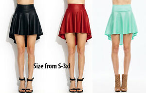 leather black mint trendy casual high low cut