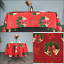 miniature 7 - Rectangle Rond Noël Rouge Nappe polyester Table Nappe Festive Motif