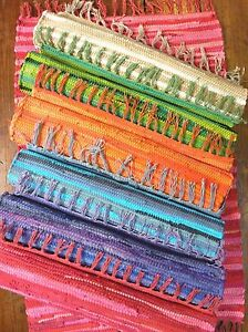 RAG-RUG-MAT-INDIAN-HAND-LOOMED-FAIR-TRADE-100-RECYCLED-COTTON-8-COLOURS-2-SIZES