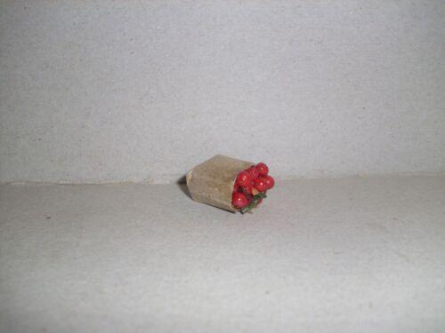 Carta acquisti sacchetto con le ciliegie Casa delle Bambole Miniatura 1:12