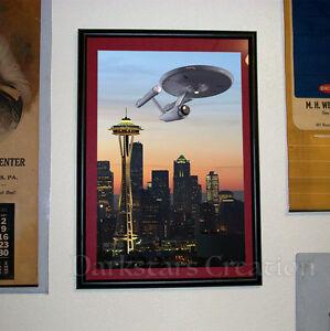 NCC-1701-Enterprise-in-Seattle-Star-Trek-Fan-Art-Space-Needle-City-Skyline