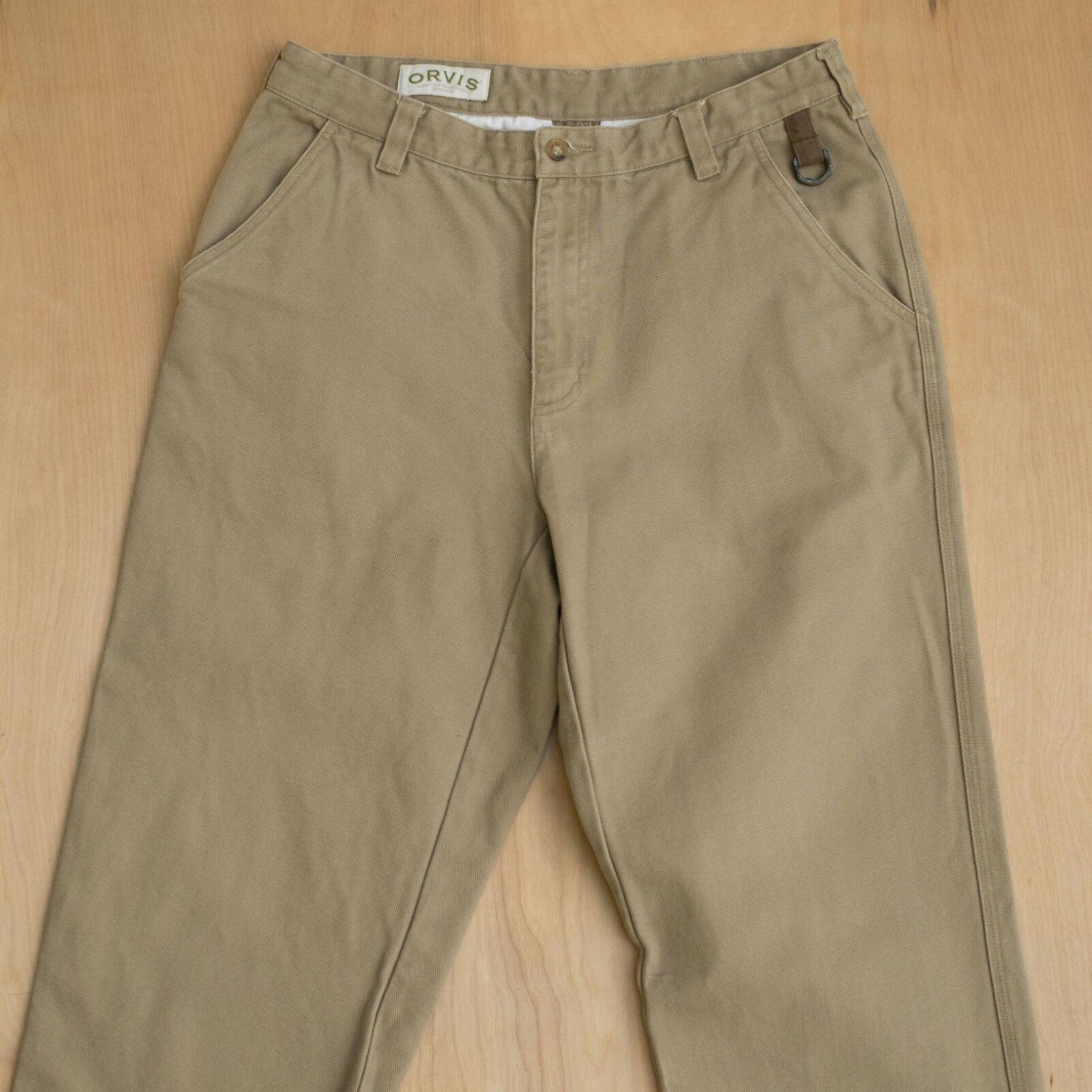Orvis Heavy Canvas Field Pants Beige Tan outdoor work 32x31