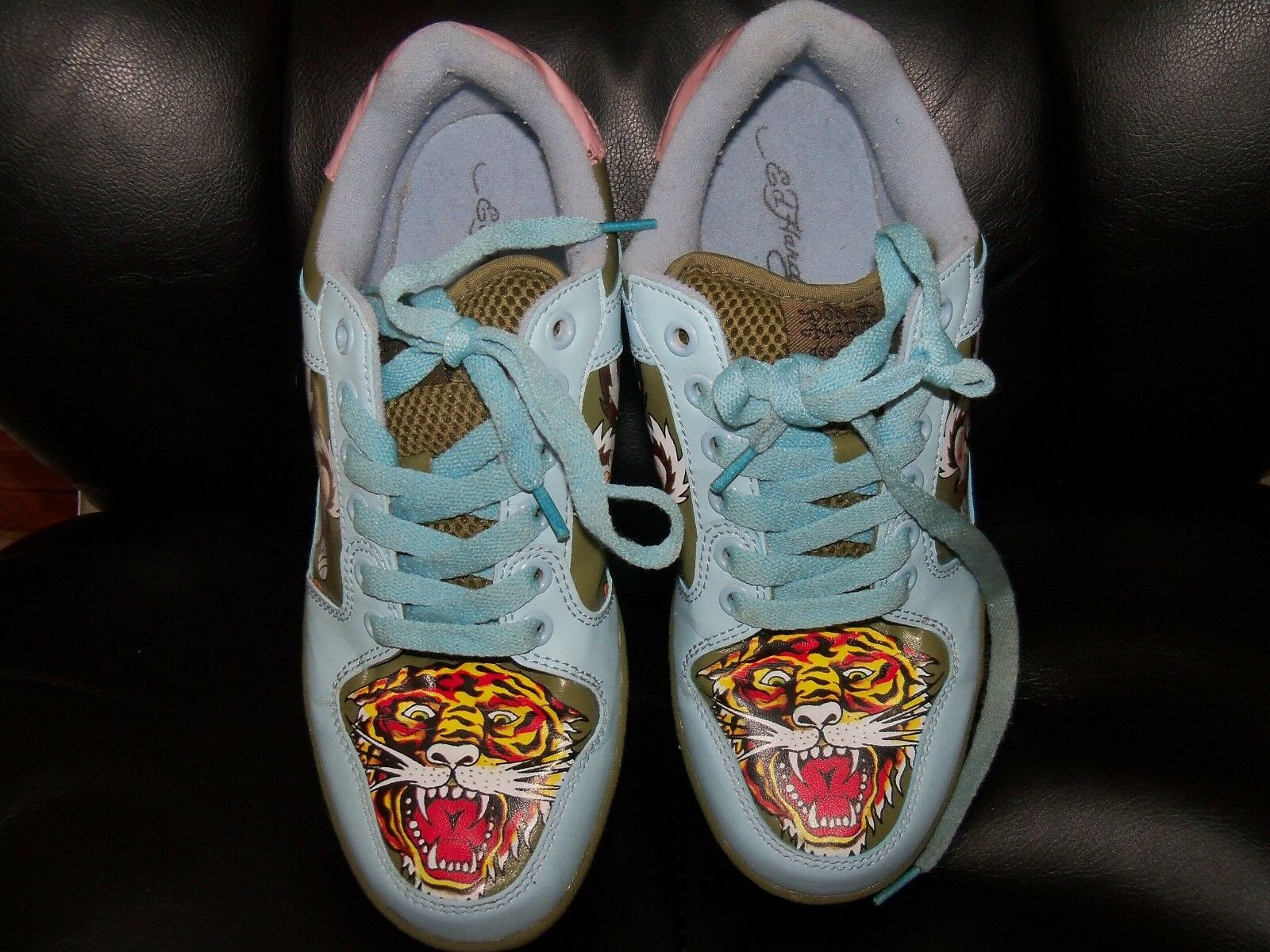 RARE ~ Don Ed Hardy 7829 CLUB Series Shoes Authentic Size 9 Women's EUC