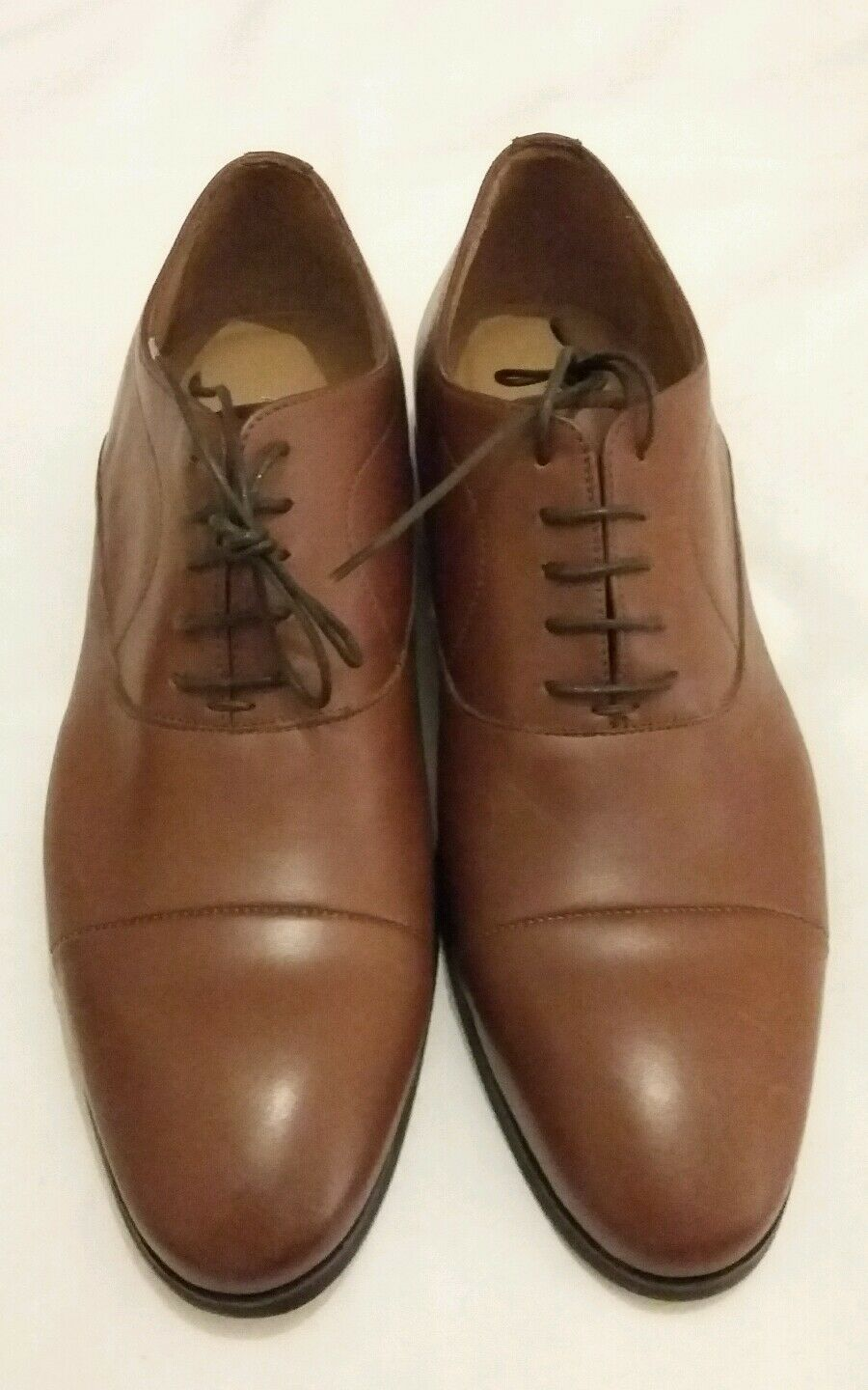 Paolo Sartori Marrone in Pelle Oxford Lace-Up Formale Scarpa EU 42 MADE IN ITALY