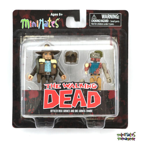 Walking Dead Minimates Series 1 Officer Rick Grimes /& One-Armed Zombie