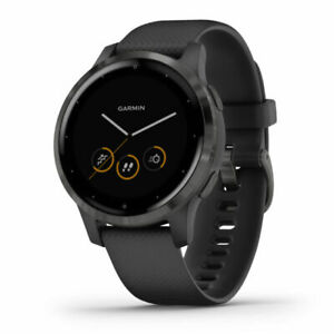 Garmin-vivoactive-4S-40mm-Case-with-Silicone-Band-GPS-Running-Watch-Black