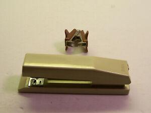 Vintage Bates Mfg. 181 Almond Stapler  USA Works Great + Safina Staple Remover