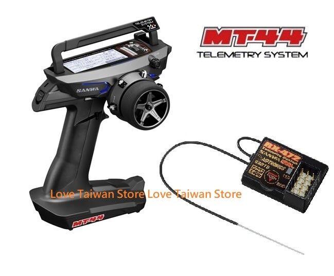New Sanwa MT-44 FH4T FH3 4-Channel 2.4GHz Radio System + RX-472 Reveiver x 1 Pcs