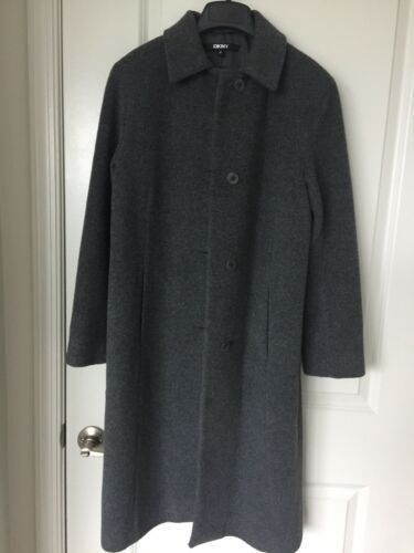 Interior Overcoat 2 Long With Wool Lining Full Længde Størrelse 43 Inch Women's Dkny zfEwYY