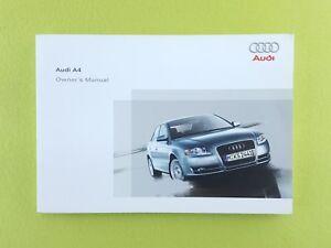audi a4 b7 2005 2008 owners manual handbook ebay rh ebay co uk Audi B7 A4 S-Line Audi B7 A4 S-Line